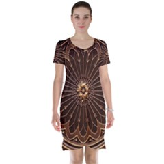 Decorative Antique Gold Short Sleeve Nightdress
