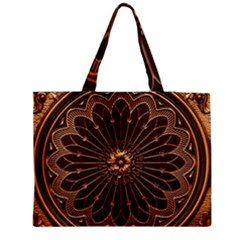 Decorative Antique Gold Medium Zipper Tote Bag by BangZart