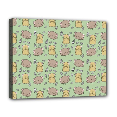 Cute Hamster Pattern Canvas 14  X 11  by BangZart