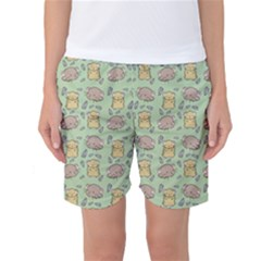 Cute Hamster Pattern Women s Basketball Shorts