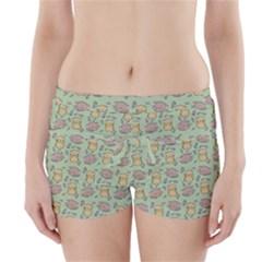 Cute Hamster Pattern Boyleg Bikini Wrap Bottoms