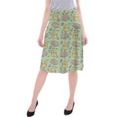 Cute Hamster Pattern Midi Beach Skirt