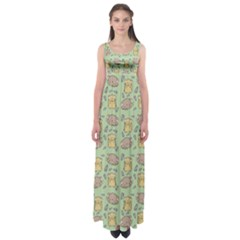 Cute Hamster Pattern Empire Waist Maxi Dress