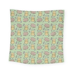 Cute Hamster Pattern Square Tapestry (small)