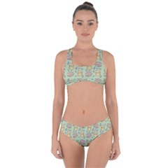 Cute Hamster Pattern Criss Cross Bikini Set