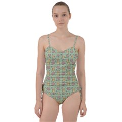 Cute Hamster Pattern Sweetheart Tankini Set