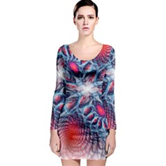 Creative Abstract Long Sleeve Bodycon Dress