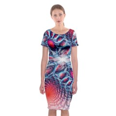 Creative Abstract Classic Short Sleeve Midi Dress
