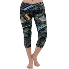 Computer Ram Tech Capri Yoga Leggings