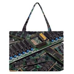 Computer Ram Tech Medium Zipper Tote Bag