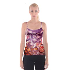 Colorful Art Traditional Batik Pattern Spaghetti Strap Top