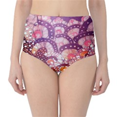 Colorful Art Traditional Batik Pattern High Waist Bikini Bottoms