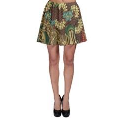 Colorful The Beautiful Of Art Indonesian Batik Pattern Skater Skirt