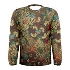 Colorful The Beautiful Of Art Indonesian Batik Pattern Men s Long Sleeve Tee