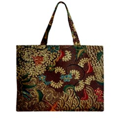 Colorful The Beautiful Of Art Indonesian Batik Pattern Zipper Mini Tote Bag