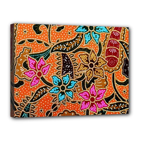 Colorful The Beautiful Of Art Indonesian Batik Pattern(1) Canvas 16  X 12  by BangZart