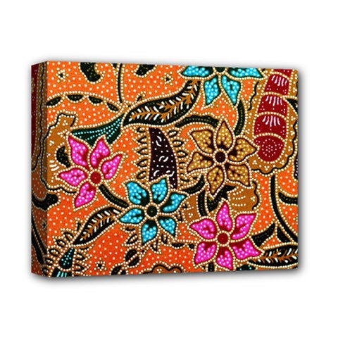 Colorful The Beautiful Of Art Indonesian Batik Pattern(1) Deluxe Canvas 14  X 11  by BangZart