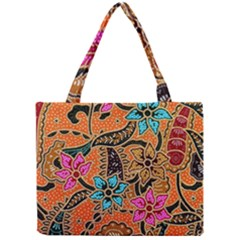 Colorful The Beautiful Of Art Indonesian Batik Pattern(1) Mini Tote Bag by BangZart