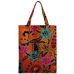 Colorful The Beautiful Of Art Indonesian Batik Pattern(1) Zipper Classic Tote Bag