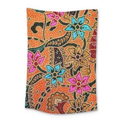 Colorful The Beautiful Of Art Indonesian Batik Pattern(1) Small Tapestry