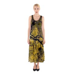 Colorful The Beautiful Of Traditional Art Indonesian Batik Pattern Sleeveless Maxi Dress