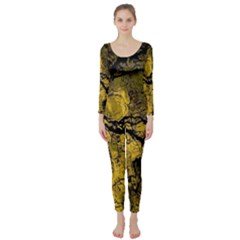 Colorful The Beautiful Of Traditional Art Indonesian Batik Pattern Long Sleeve Catsuit