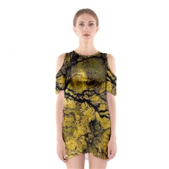 Colorful The Beautiful Of Traditional Art Indonesian Batik Pattern Shoulder Cutout One Piece