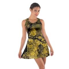 Colorful The Beautiful Of Traditional Art Indonesian Batik Pattern Cotton Racerback Dress