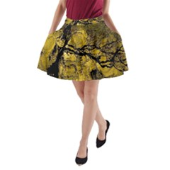 Colorful The Beautiful Of Traditional Art Indonesian Batik Pattern A Line Pocket Skirt