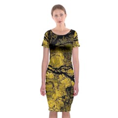 Colorful The Beautiful Of Traditional Art Indonesian Batik Pattern Classic Short Sleeve Midi Dress