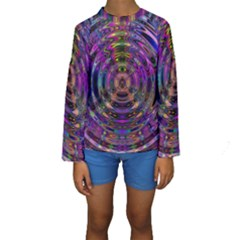 Color In The Round Kids  Long Sleeve Swimwear