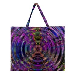 Color In The Round Zipper Large Tote Bag by BangZart