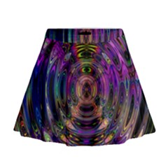 Color In The Round Mini Flare Skirt