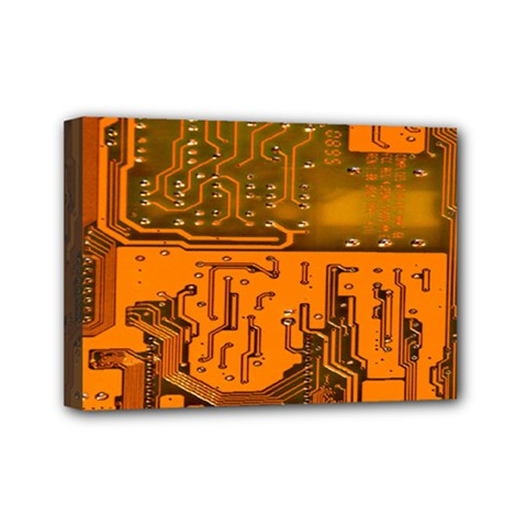 Circuit Board Pattern Mini Canvas 7  X 5