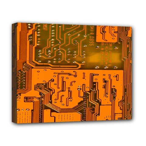 Circuit Board Pattern Deluxe Canvas 20  X 16   by BangZart