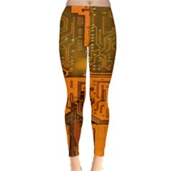 Circuit Board Pattern Classic Winter Leggings