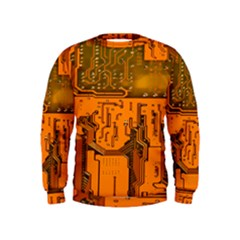 Circuit Board Pattern Kids  Sweatshirt
