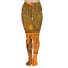 Circuit Board Pattern Women s Tights