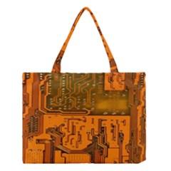 Circuit Board Pattern Medium Tote Bag