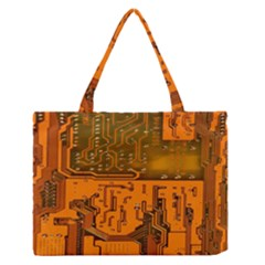 Circuit Board Pattern Medium Zipper Tote Bag