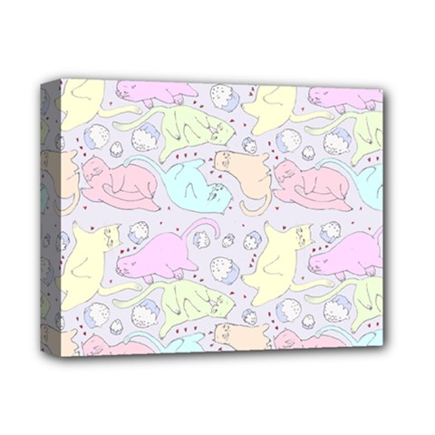 Cat Animal Pet Pattern Deluxe Canvas 14  X 11  by BangZart