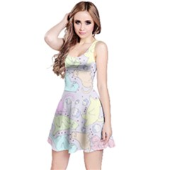 Cat Animal Pet Pattern Reversible Sleeveless Dress