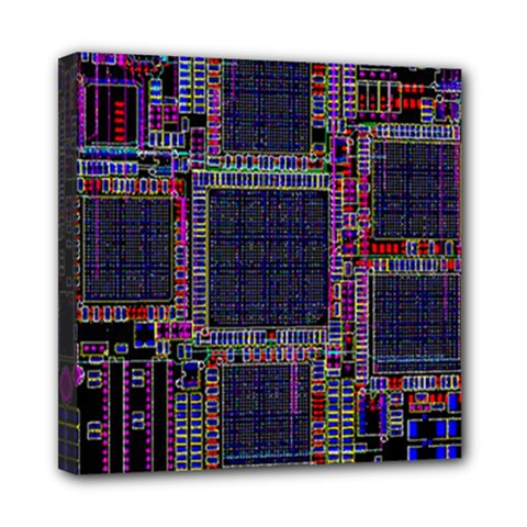 Cad Technology Circuit Board Layout Pattern Mini Canvas 8  X 8  by BangZart
