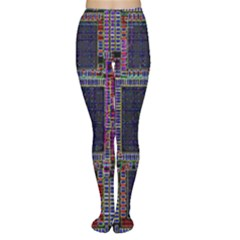 Cad Technology Circuit Board Layout Pattern Women s Tights