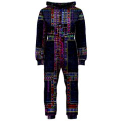 Cad Technology Circuit Board Layout Pattern Hooded Jumpsuit (ladies)