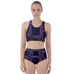 Cad Technology Circuit Board Layout Pattern Bikini Swimsuit Spa Swimsuit