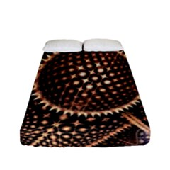 Brown Fractal Balls And Circles Fitted Sheet (full/ Double Size) by BangZart