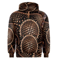 Brown Fractal Balls And Circles Men s Pullover Hoodie