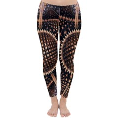 Brown Fractal Balls And Circles Classic Winter Leggings