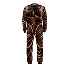 Brown Fractal Balls And Circles Onepiece Jumpsuit (kids)